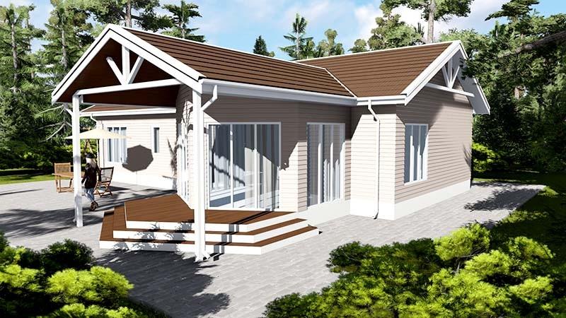 Крыша дома из SIP-панелей